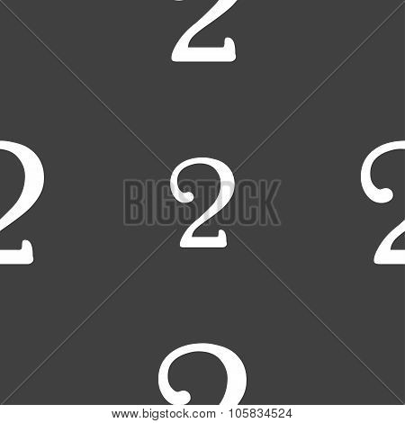 Second Place Award Sign. Winner Symbol. Step Two. Seamless Pattern On A Gray Background. Vector
