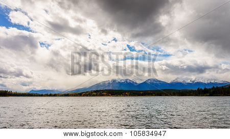 Pyramid Lake with the Whistlers Mountain
