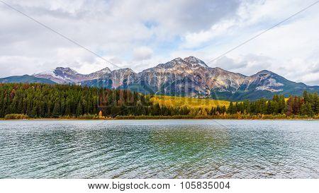 Pyramid Mountain and Patricia Lake