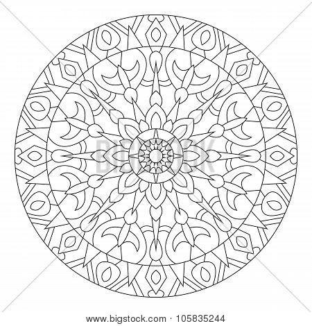 Mandala. Circular pattern in ethnic style.