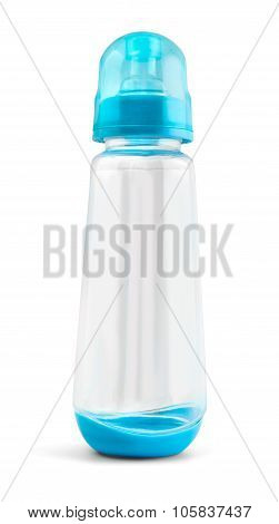Baby Nipple Bottle Mockup Isolated On White