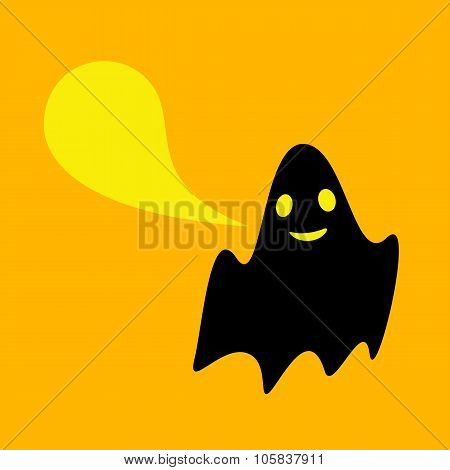 Funny Ghost With Speech Bubble