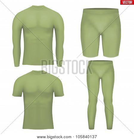 Thermal underwear layer compression set