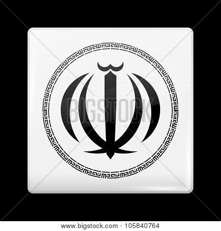 Iran Variant Emblems. Glassy Icon Square Shape