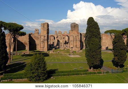 Baths Of Caracalla In Rome