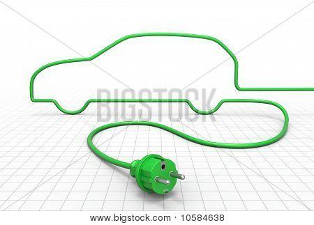 Concepto de coche eléctrico