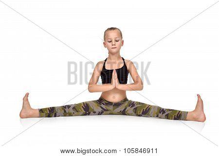Girl Doing Namaste