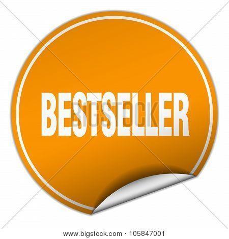 Bestseller Round Orange Sticker Isolated On White
