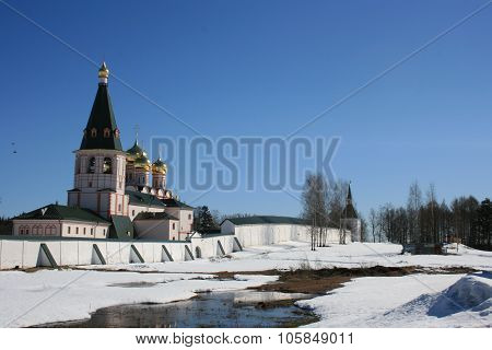 Valday Iversky Monastery. Russian traditions.