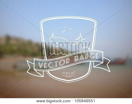 Vector retro nautical badge