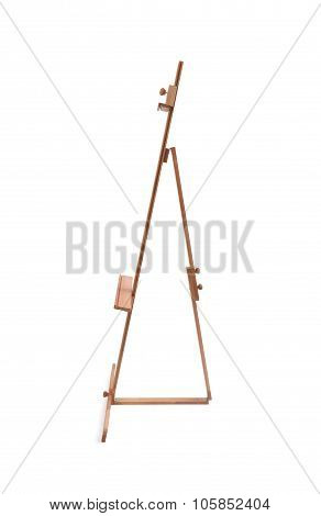 Wooden Painter Easel Isolated On White side view