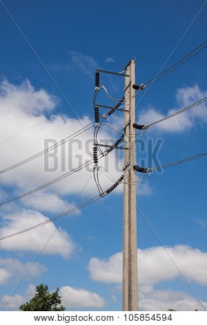 High Voltage Poles Cement.