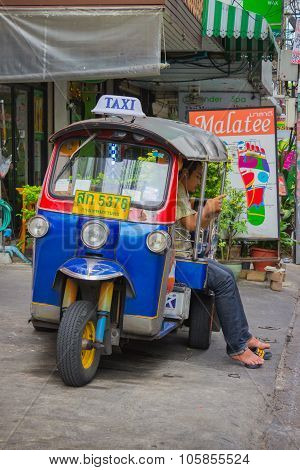 Traditional Moto-taxi In Thailand