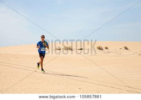 Corralejo - November 03: Men Race Leader And Winner, Majid Belouati, At Fourth International Fuertev