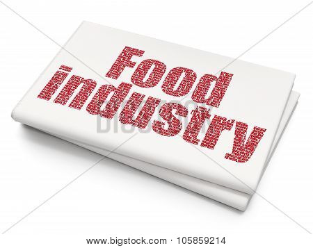 Industry concept: Food Industry on Blank Newspaper background