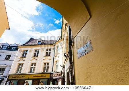 Arch On Michalska Street In Bratislava
