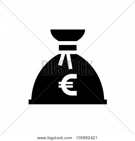 Money bag black icon