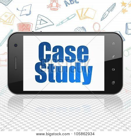 Studying concept: Smartphone with Case Study on display
