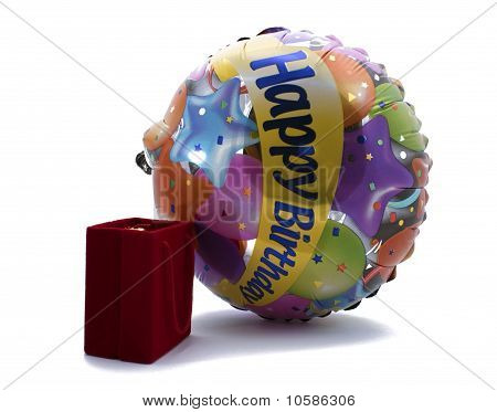 Velvet Gift Box With A Celebratory Ball