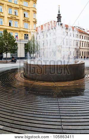 Fountain On Freedom Square (namesti Svobody), Brno