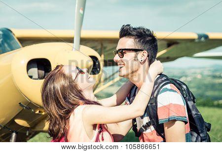 Couple Having Fun During An Excursion