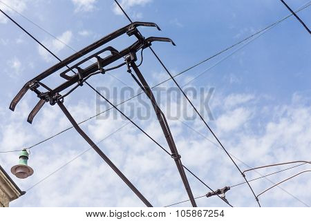 Trolley Trolleybus Electricity Cable Lines