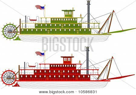 Stern Wheeler Flussboot