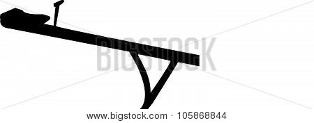 seesaw silhouette vector