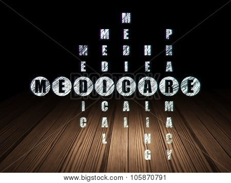 Healthcare concept: Medicare in Crossword Puzzle
