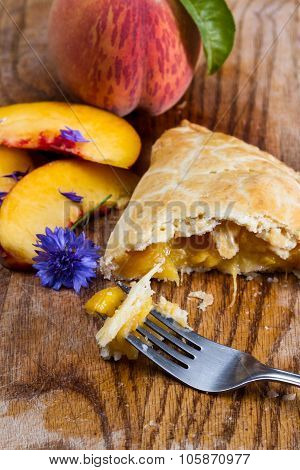 Organic Peach Turnover