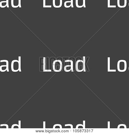 ownload Now Icon. Load Symbol. Seamless Pattern On A Gray Background. Vector