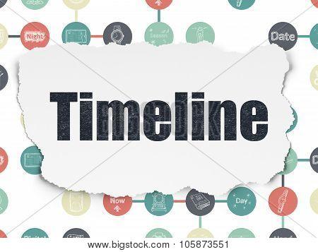 Timeline concept: Timeline on Torn Paper background