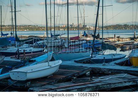 Along Lake Washington - Boats