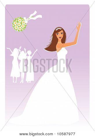 Bride with a bouquet