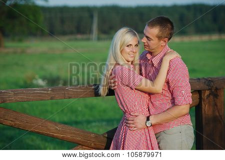 beautiful couple in country style