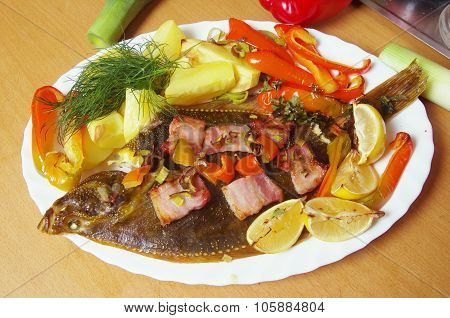 Baked  Fish Flounder