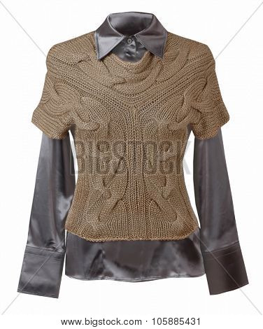 brown vest isolated on white background