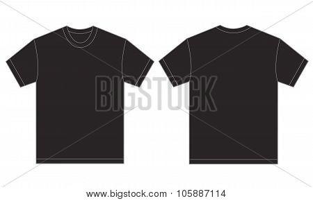 Black Shirt Design Template For Men