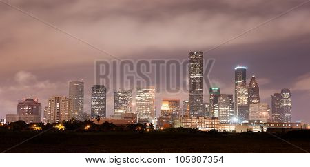 Houston Skyline Southern Texas Big City Downtown Metropolis