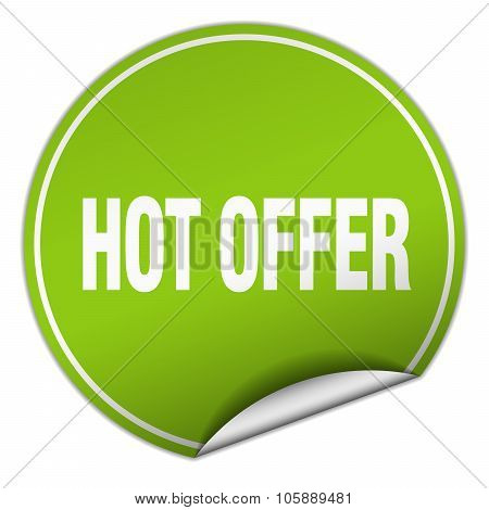 Hot Offer Round Green Sticker Isolated On White