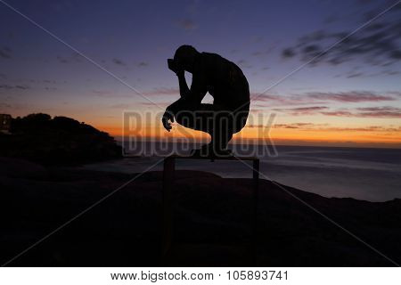 Sculpture By The Sea - Crouching Man