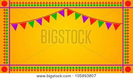Celebration Greetings on Yellow Background