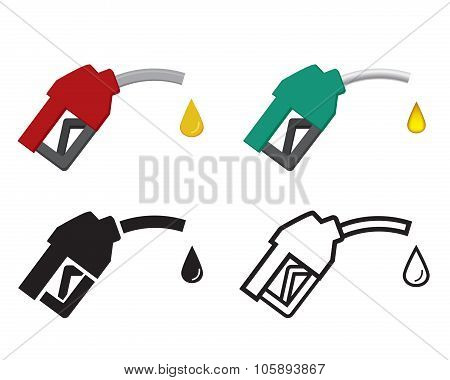 Fuel Nozzle And Oil Drop, Oil Energy Icon