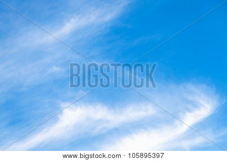 Blue Sky With Stratus White Clouds Over Bratislava