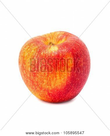 Apple red single isolated on white background