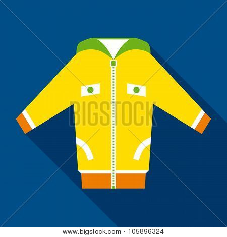Yellow Jacket in Flat Style