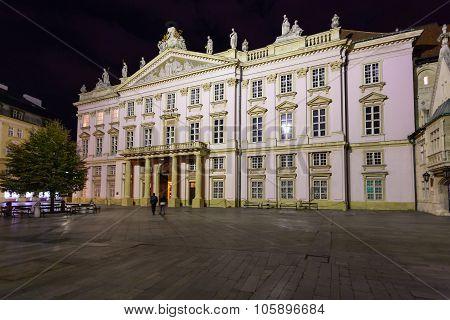 Primate's Palace In Bratislava In Night