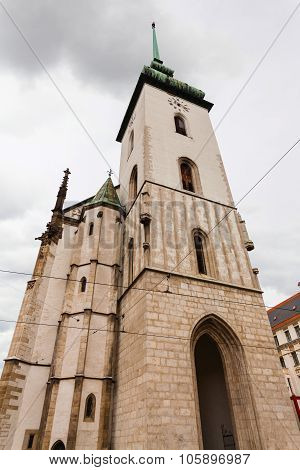 Tower Of Church Of St Jacob (st James) In Brno