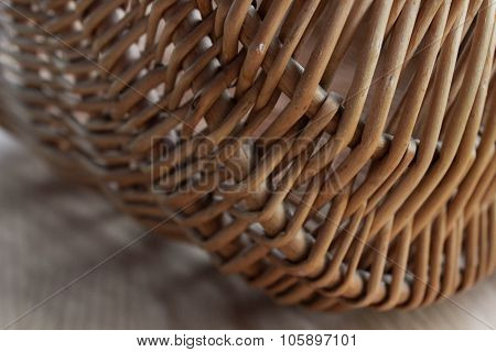 straw basket closeup