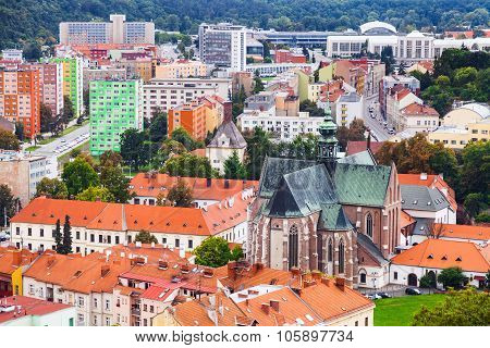Above View Of Brno City With Augustinian Abbey
